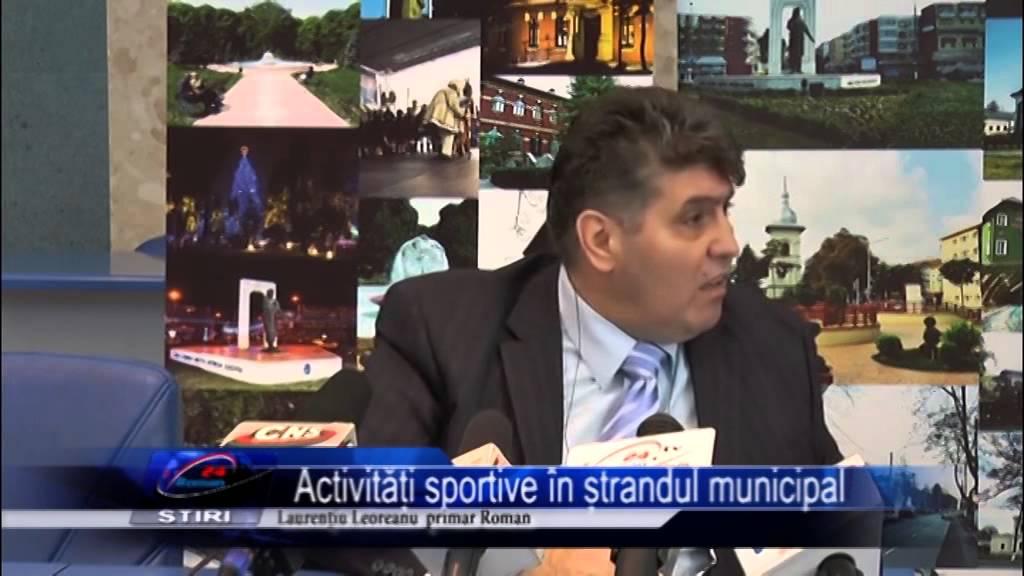 Activități sportive în ștrandul municipal