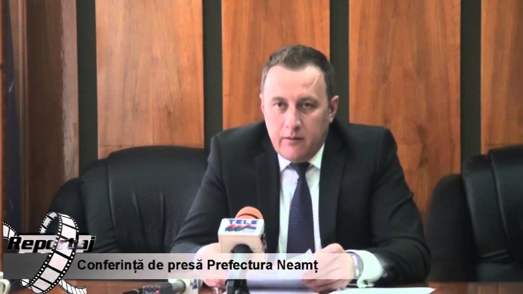 Conferinta de presa Prefectura Neamt