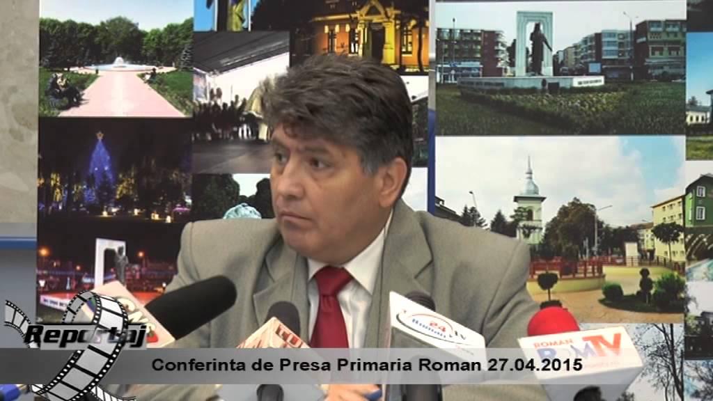 Conferinta de Presa Primaria Roman 27.04.2015