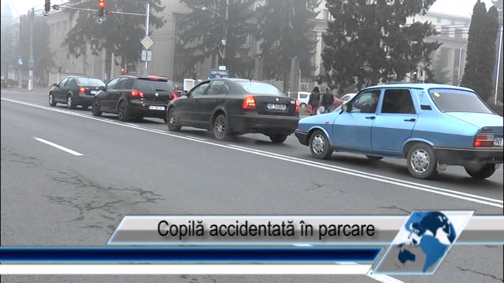 Copila accidentata in parcare