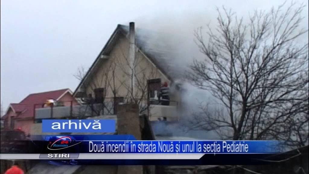 Două incendii în strada Nouă și unul la secția Pediatrie