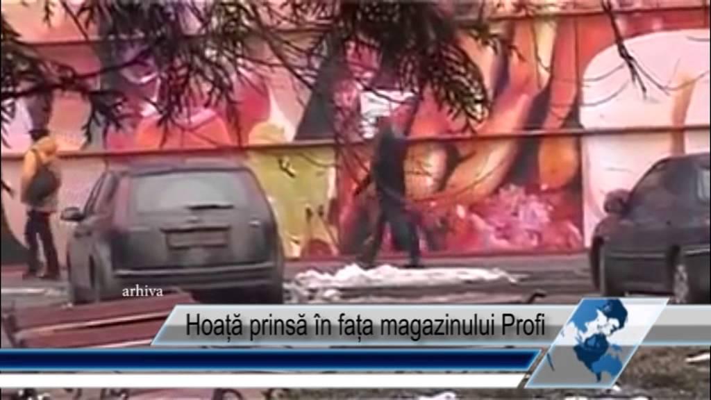 Hoață prinsă în fața magazinului Profi