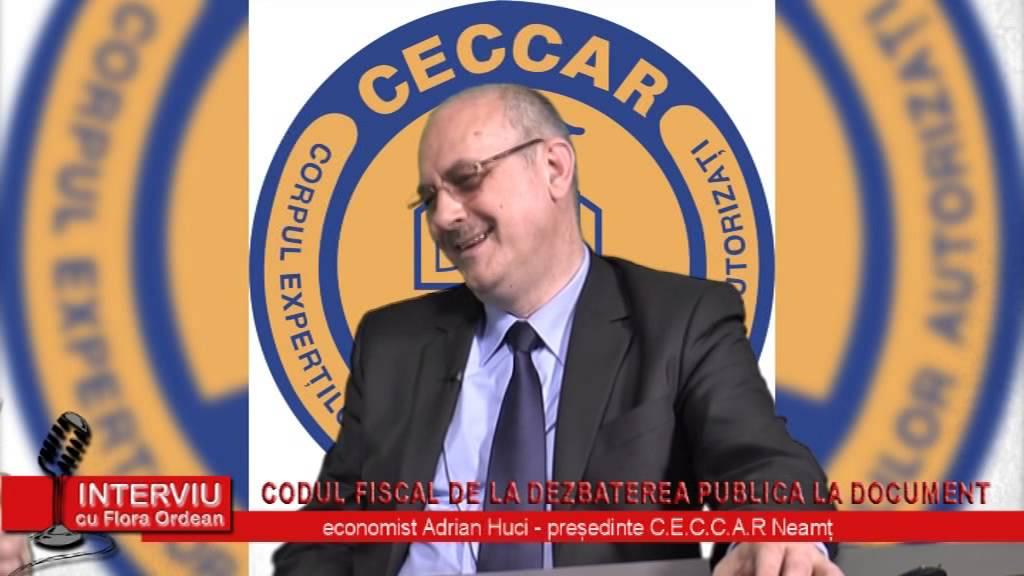 Interviu cu Flora Ordean – invitat economist Adrian Huci, presedinte CECCAR Neamt