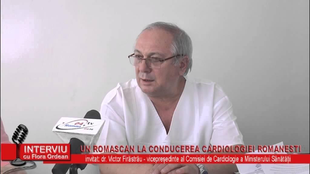 Interviu cu Flora Ordean – invitat dr. Victor Firastrau, vicepresedinte al Comisiei de Cardiologie a Ministerului Sanatatii