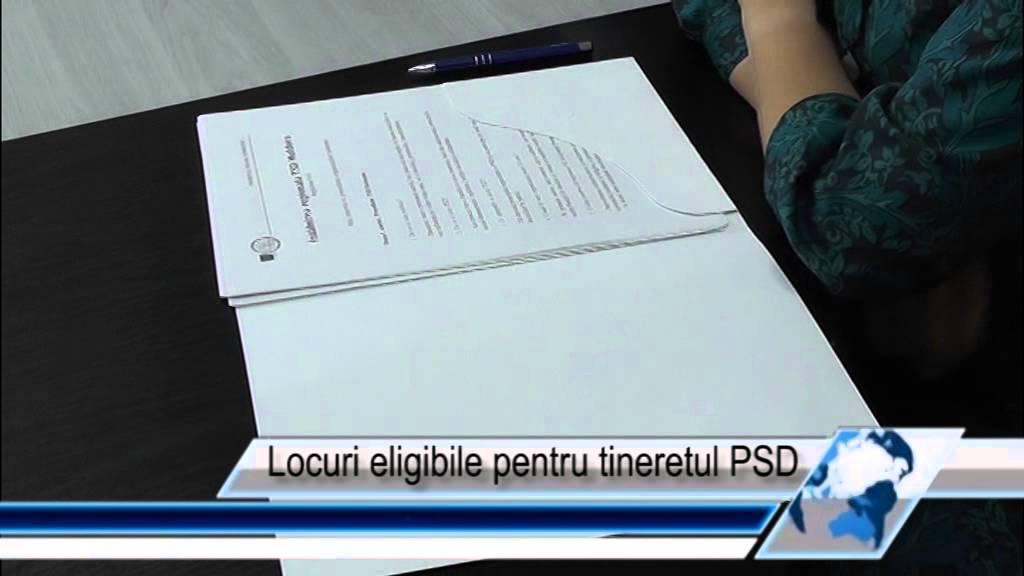 Locuri eligibile pentru tineretul PSD