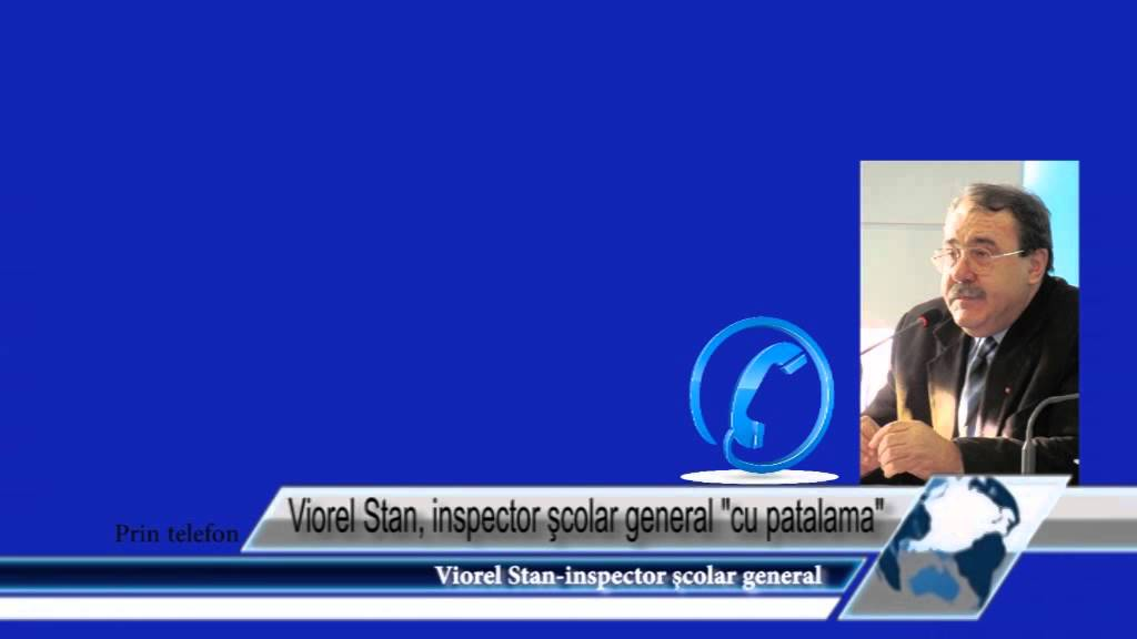 Viorel Stan, inspector şcolar general cu patalama