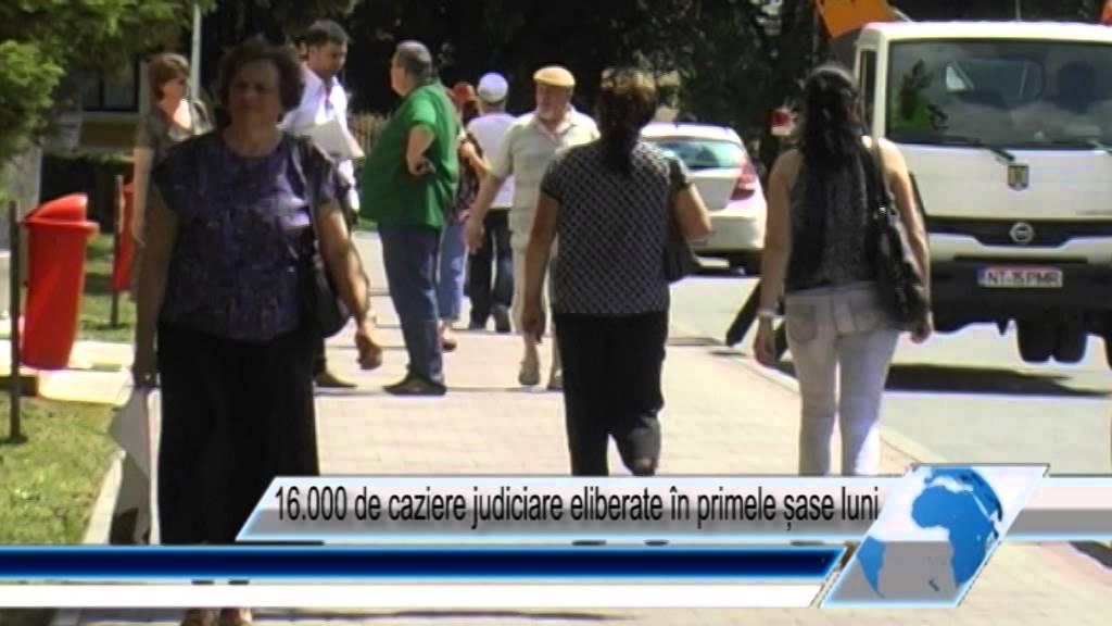 16.000 de caziere judiciare eliberate în primele șase luni