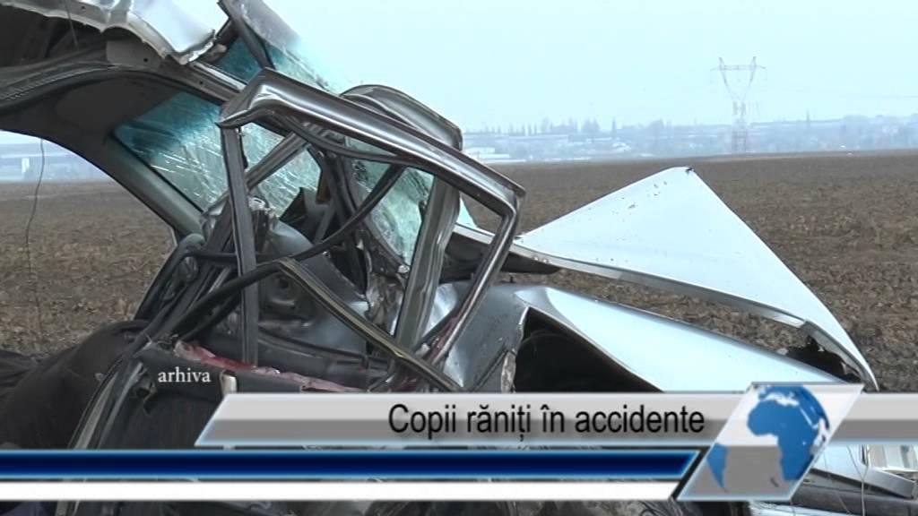 Copii răniți în accidente