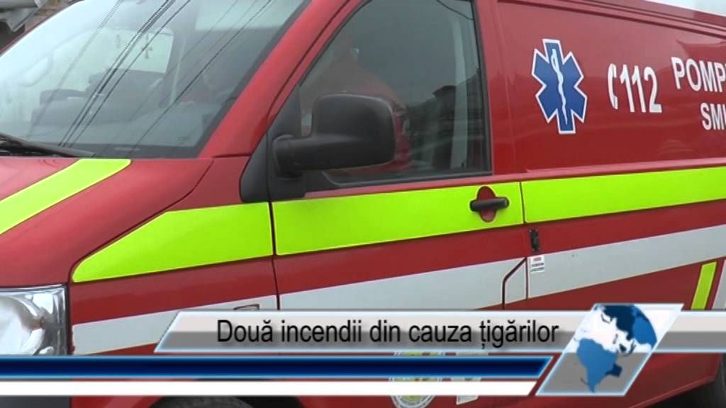 Două incendii din cauza țigărilor