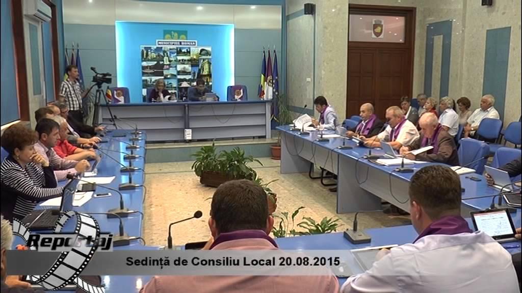 Sedinta de Consiliu Local 20.08.2015
