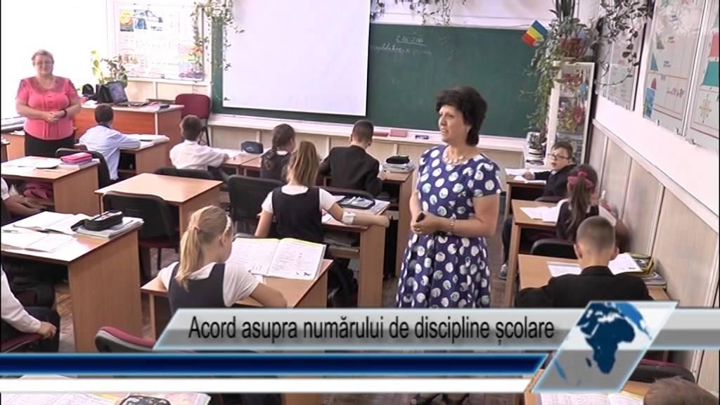 Acord asupra numărului de discipline școlare