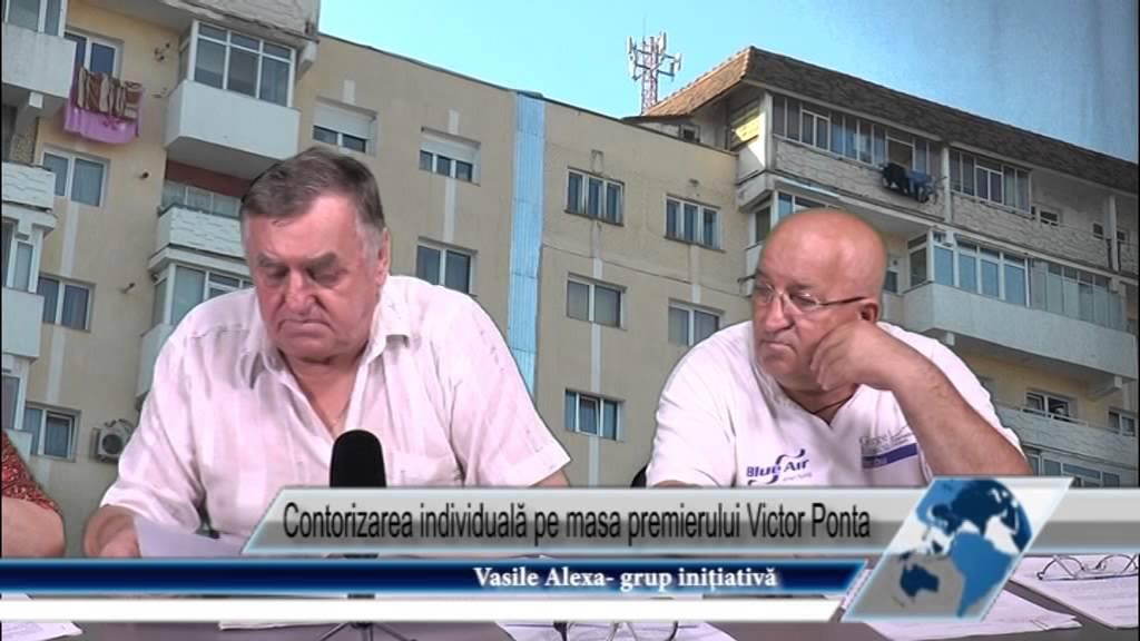 Contorizare individuala pe masa lui Ponta