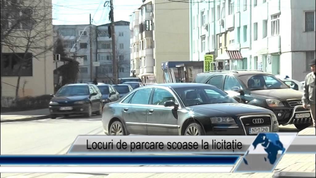 Locuri de parcare scoase la licitație