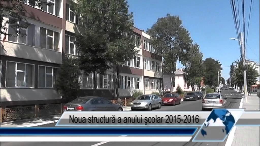 Noua structură a anului şcolar 2015-2016
