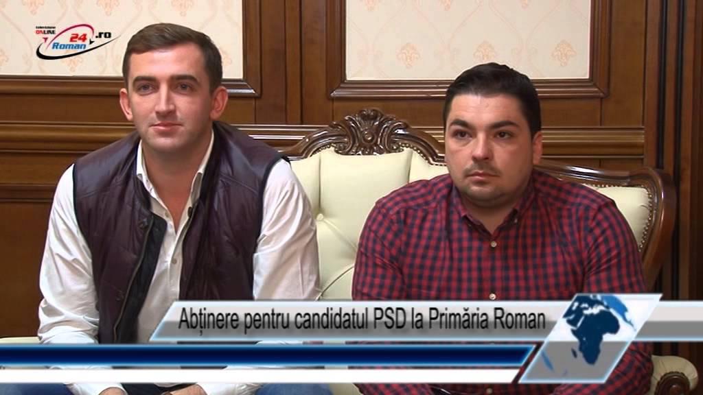 Abținere pentru candidatul PSD la Primăria Roman