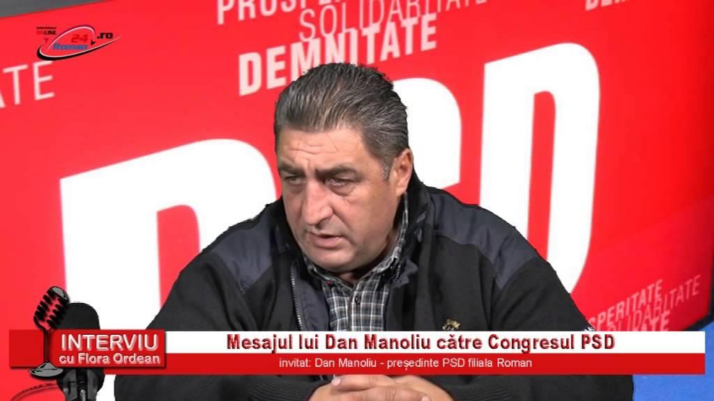 Interviu cu Flora Ordean – Mesajul lui Dan Manoliu catre Congresul PSD