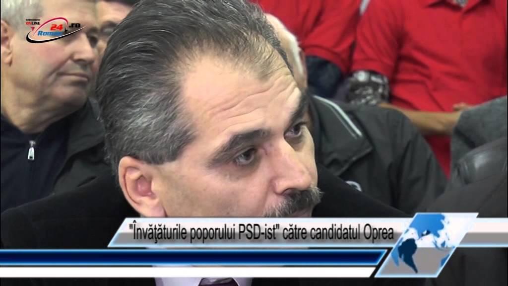 Învăţăturile poporului PSD-ist către candidatul Oprea