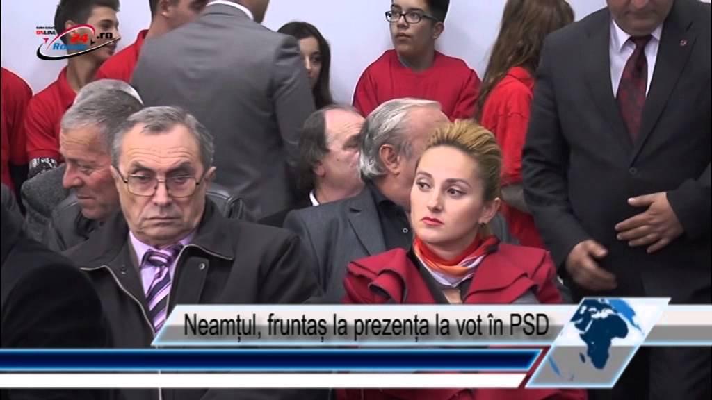 Neamțul, fruntaș la prezența la vot în PSD