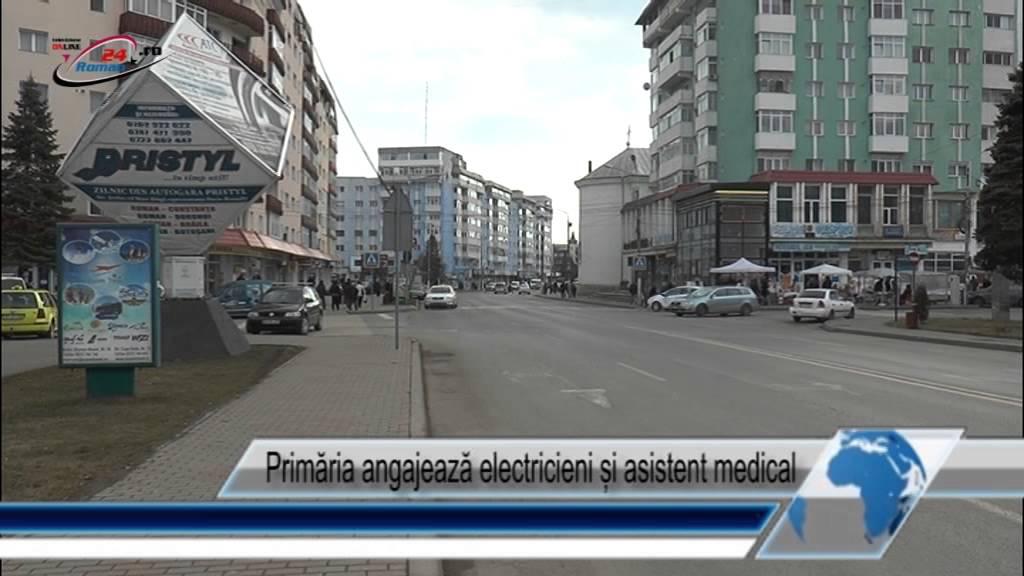 Primăria angajează electricieni și asistent medical