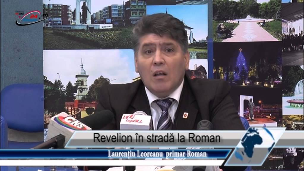 Revelion în stradă la Roman