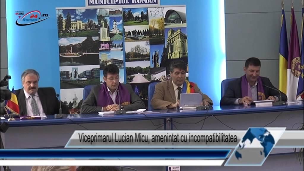 Viceprimarul Lucian Micu, amenințat cu incompatibilitatea