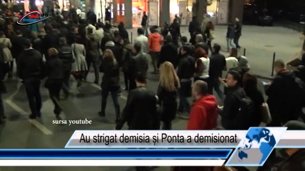 Au strigat demisia și Ponta a demisionat