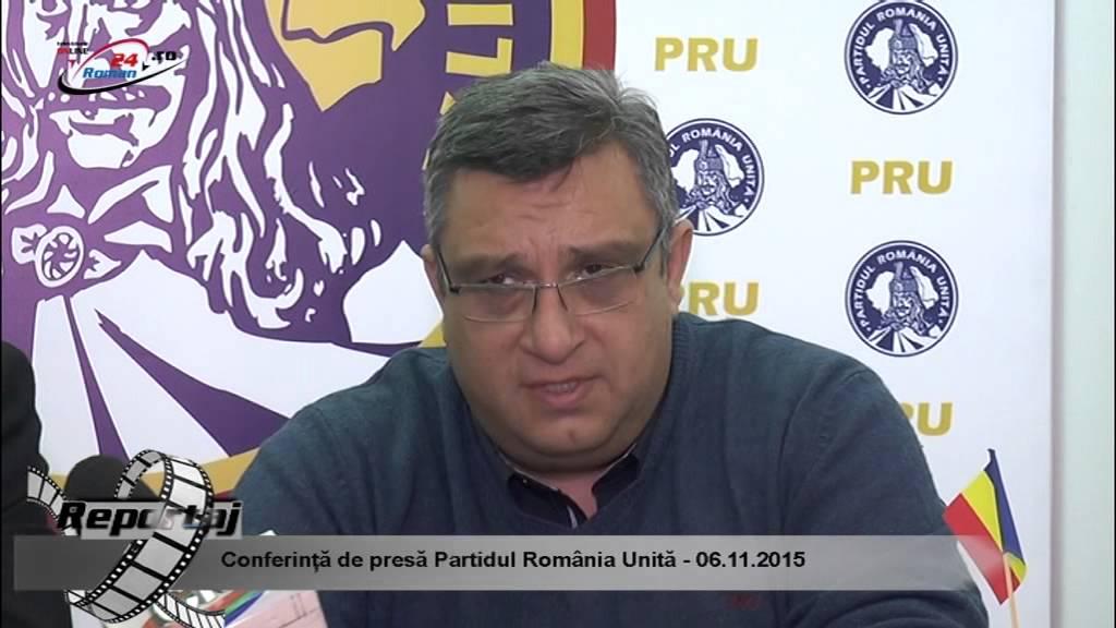 Conferință de presă Partidul România Unită – 06.11.2015