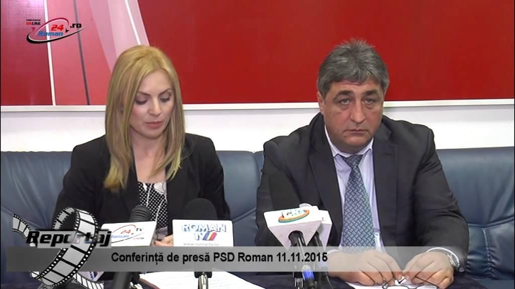 Conferinta de presa PSD Roman 11.11.2015