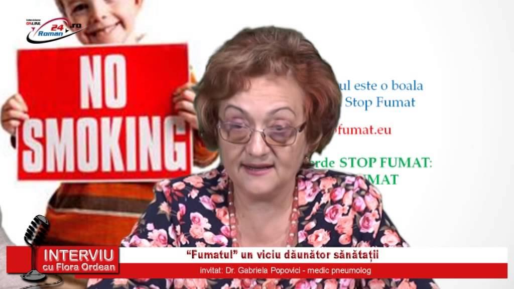 Interviu cu Flora Ordean – Fumatul, un viciu daunator sanatatii