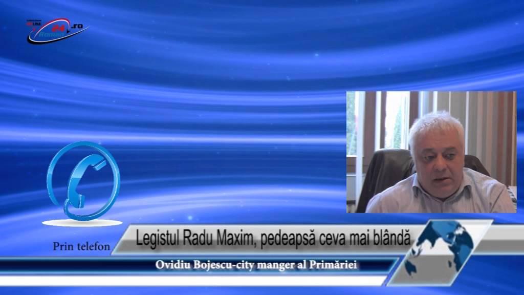 Legistul Radu Maxim, pedeapsă ceva mai blândă