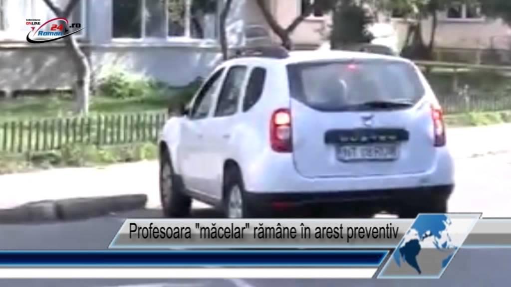 Profesoara măcelar rămâne în arest preventiv