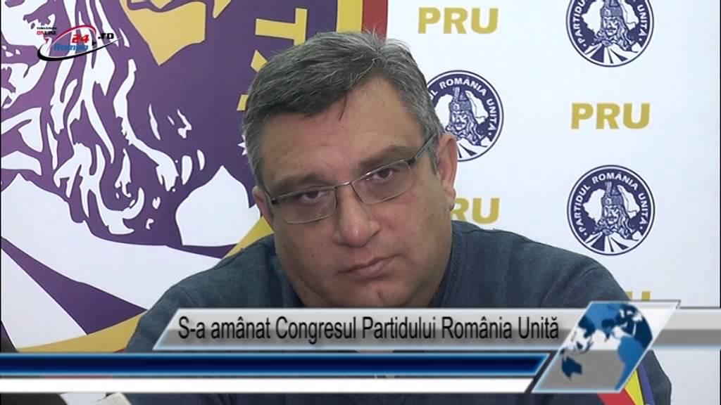 S-a amânat Congresul Partidului România Unită