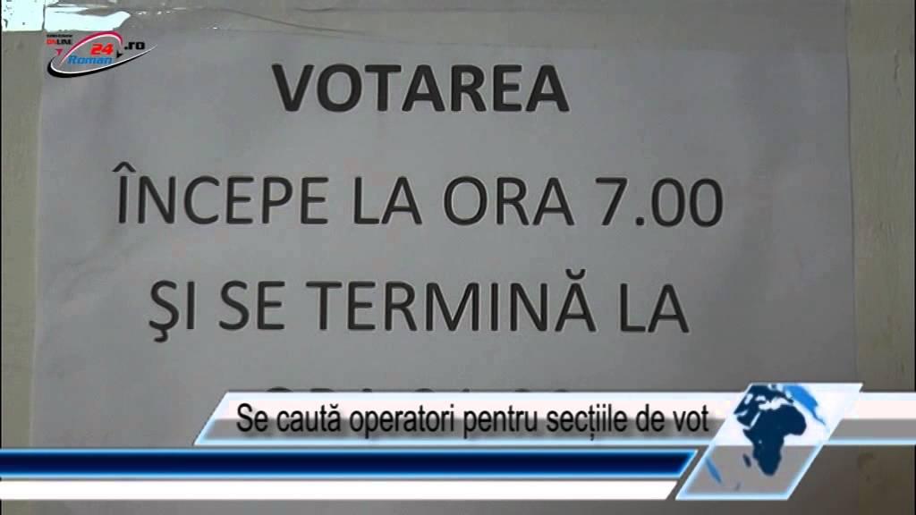 Se caută operatori pentru secțiile de vot