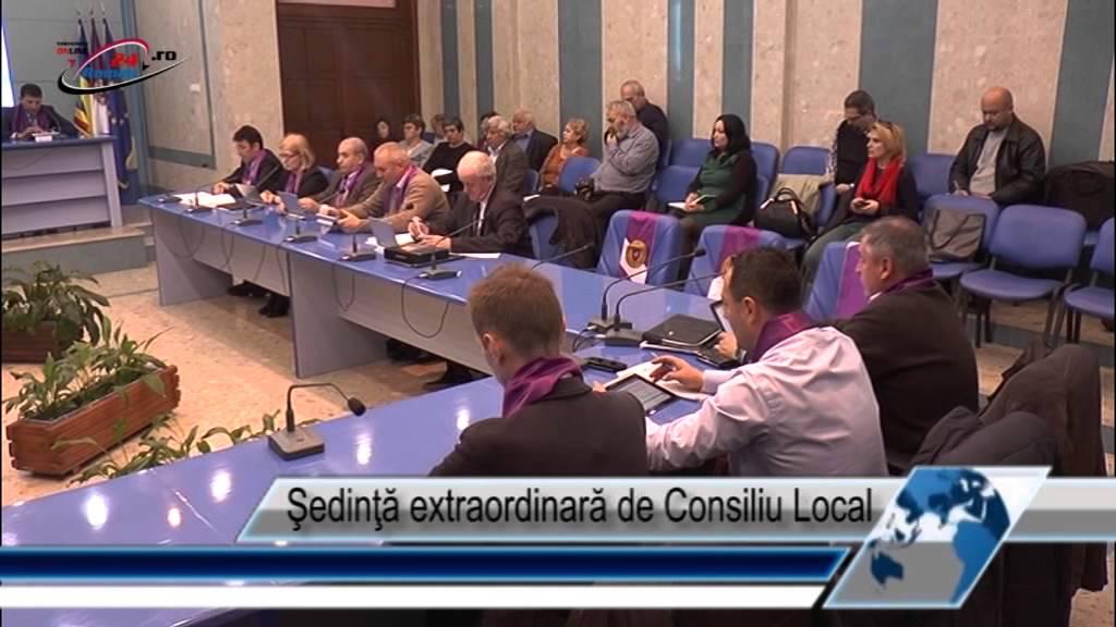 Şedinţă extraordinară de Consiliu Local