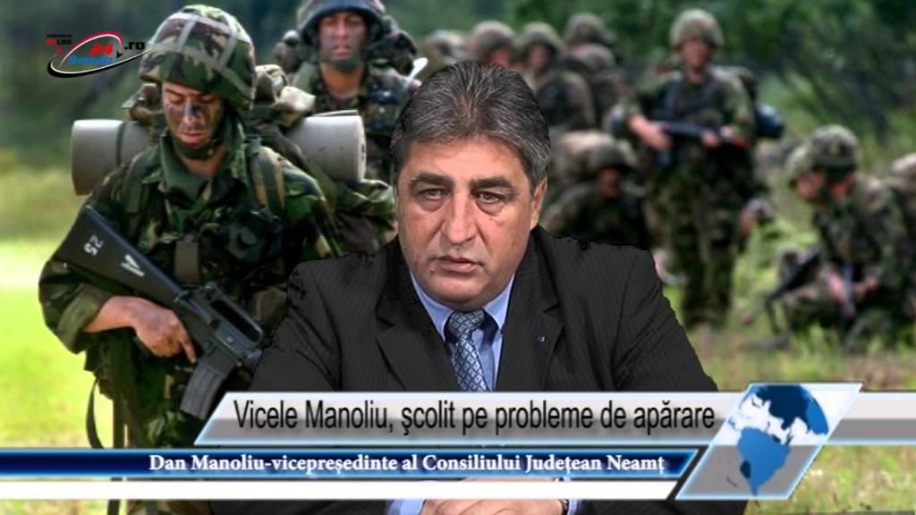Vicele Manoliu, şcolit pe probleme de apărare