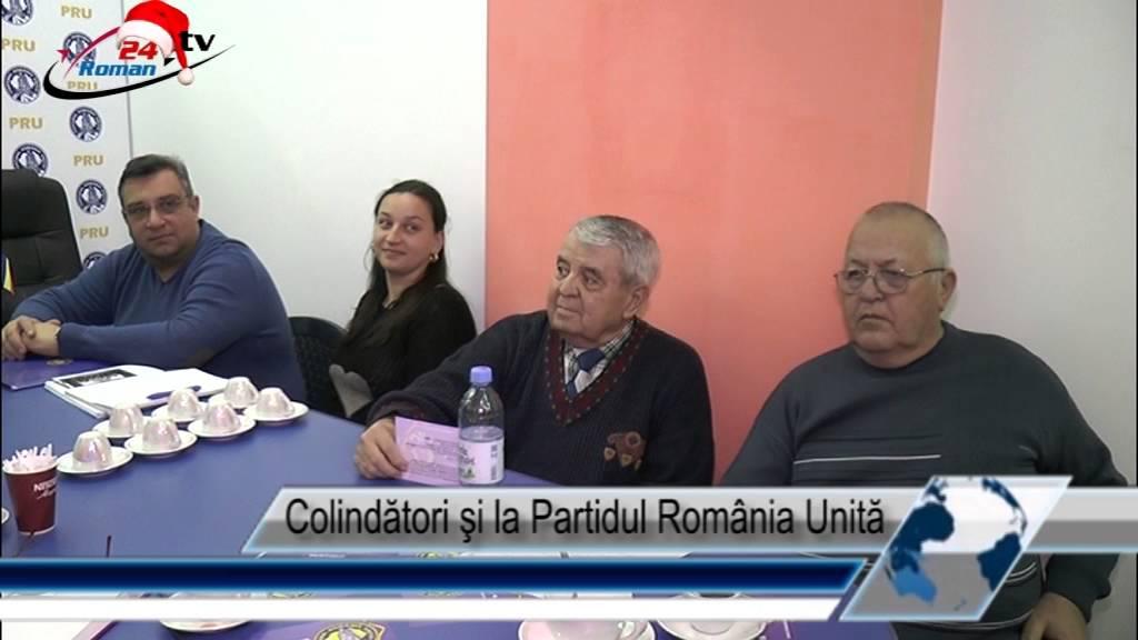 Colindători şi la Partidul România Unită