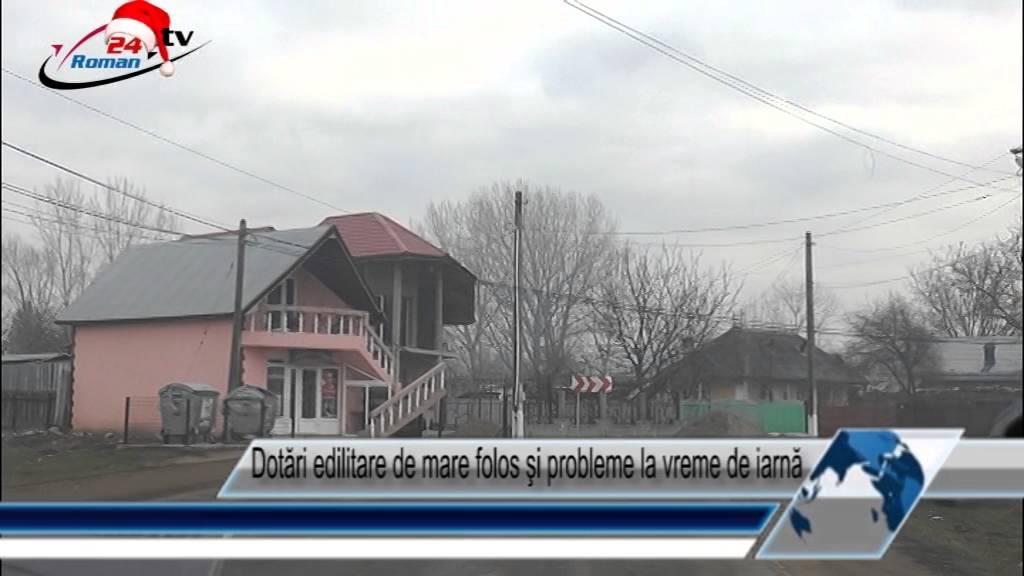 Dotări edilitare de mare folos şi probleme la vreme de iarnă