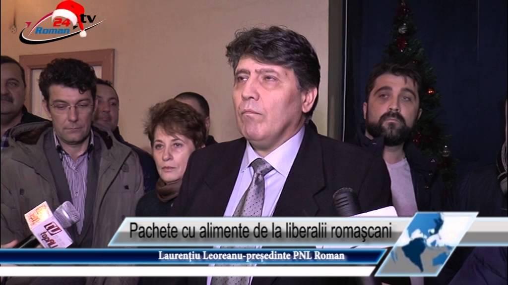 Pachete cu alimente de la liberalii romaşcani