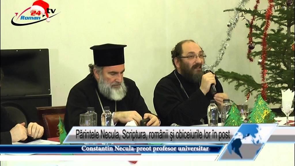 Părintele Necula, Scriptura, românii şi obiceiurile lor în post