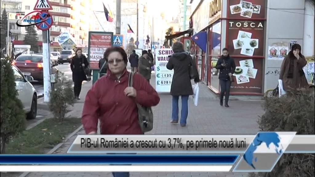 PIB-ul României a crescut cu 3,7%, pe primele nouă luni