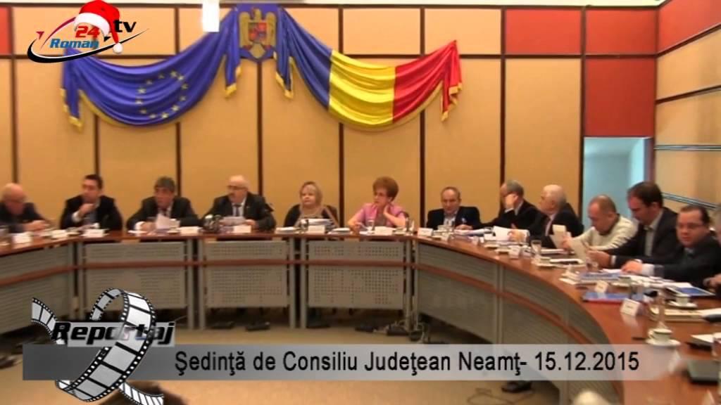 Şedinţa de Consiliu Judeţean Neamţ -15.12.2015