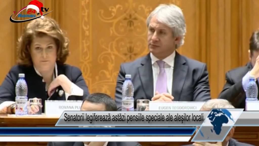 Senatorii legiferează astăzi pensiile speciale ale aleşilor locali
