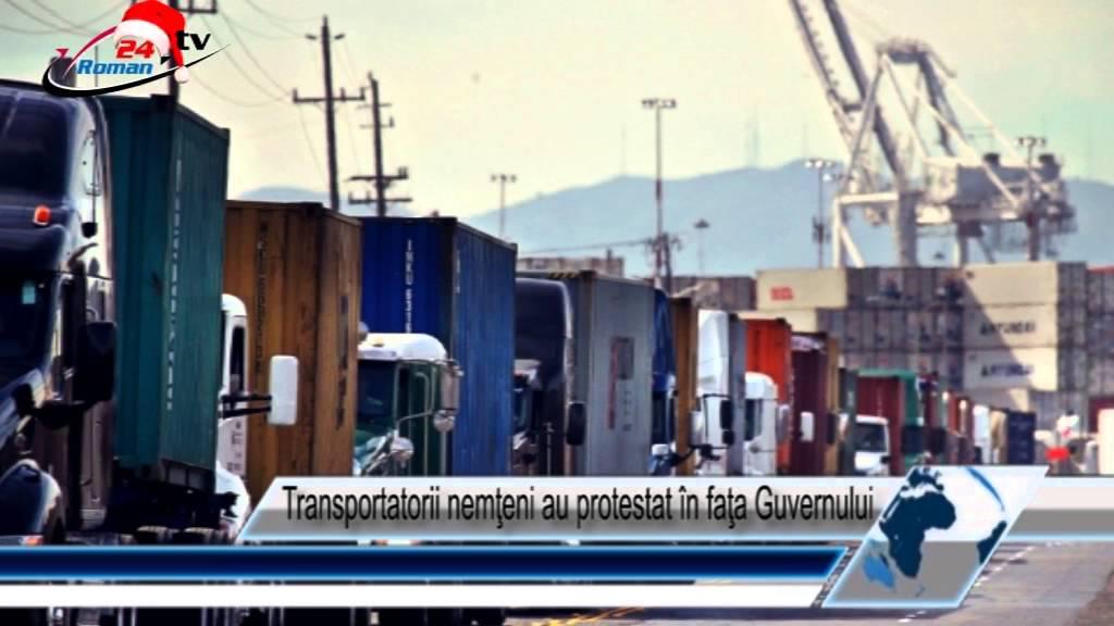 Transportatorii nemţeni au protestat în faţa Guvernului