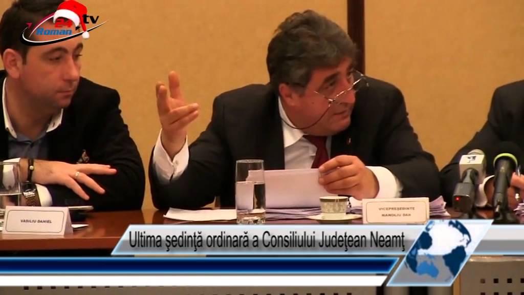 Ultima şedinţă ordinară a Consiliului Judeţean Neamţ