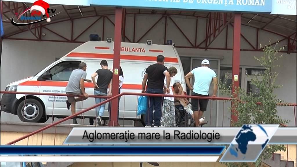 Aglomeraţie mare la Radiologie