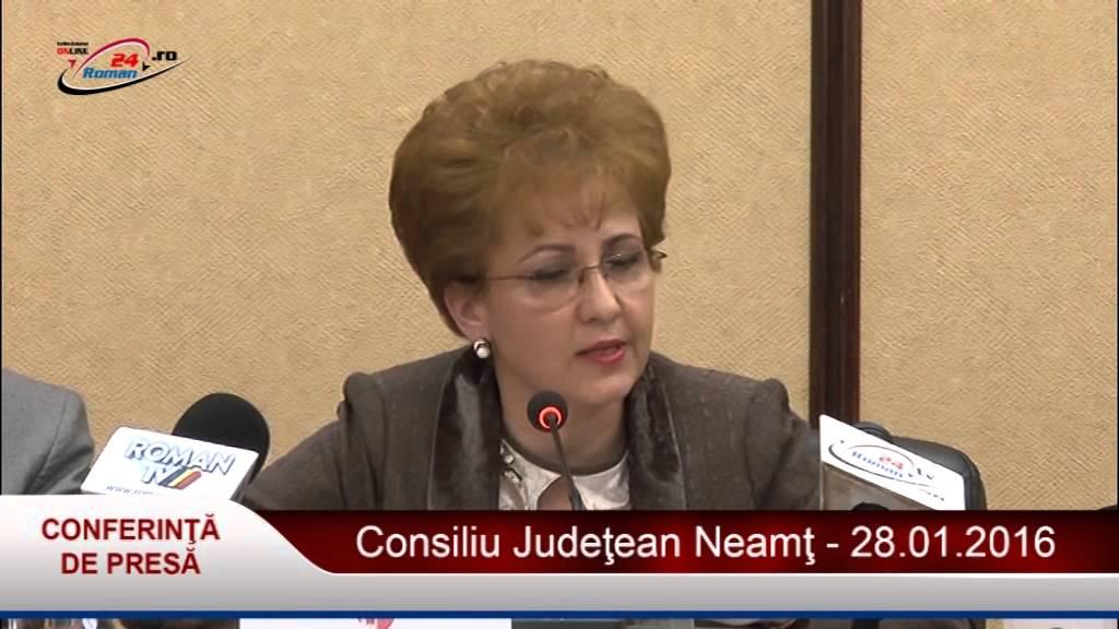 Conferintă de presă C.J. Neamţ 28.01.2016