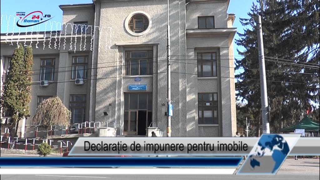 Declarație de impunere pentru imobile