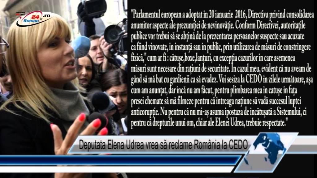 Deputata Elena Udrea vrea să reclame România la CEDO