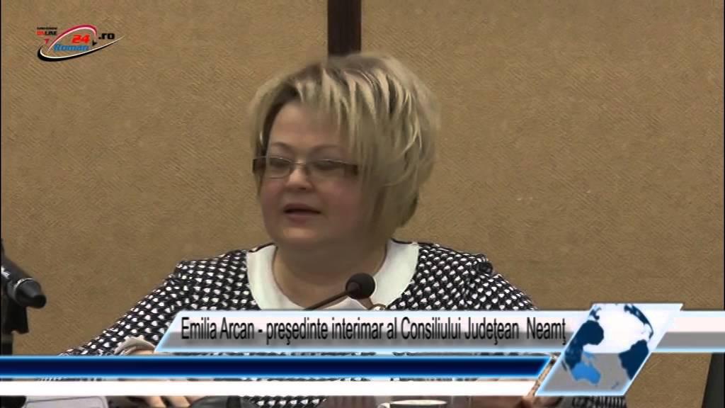 Emilia Arcan‐ preşedinte interimar al Consiliului Judeţean  Neamţ