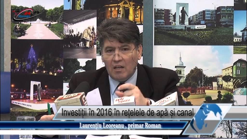 Investiții în 2016 în rețelele de apă și canal